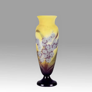 Emile Galle Vase - Art Nouveau Glass -  Flower Vase - Hickmet Fine Arts