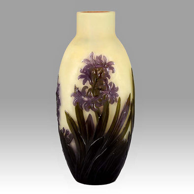 'Blue Chrysantheum' Vase by Emile Gallé