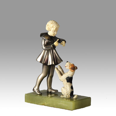 'Girl and Terrier' by Molins