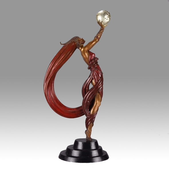 Erte Bronze The Globe - Romain de Tirtoff Bronze Figure - Hickmet Fine Arts