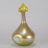 Golden Goose-neck Vase by Johann Loetz