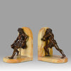 bronze art deco bookends