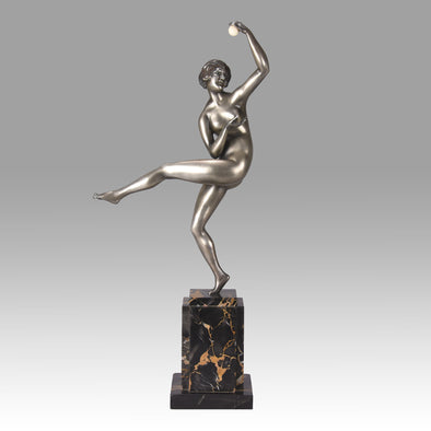 Guiraud Riviere Dancer with Ball - Art Deco Bronze- Hickmet Fine Arts
