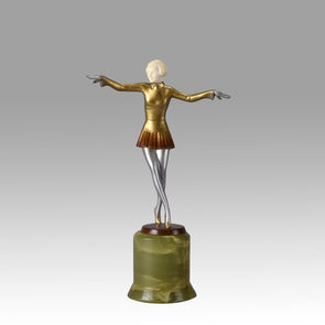 Lorenzl bronze and ivory dancer