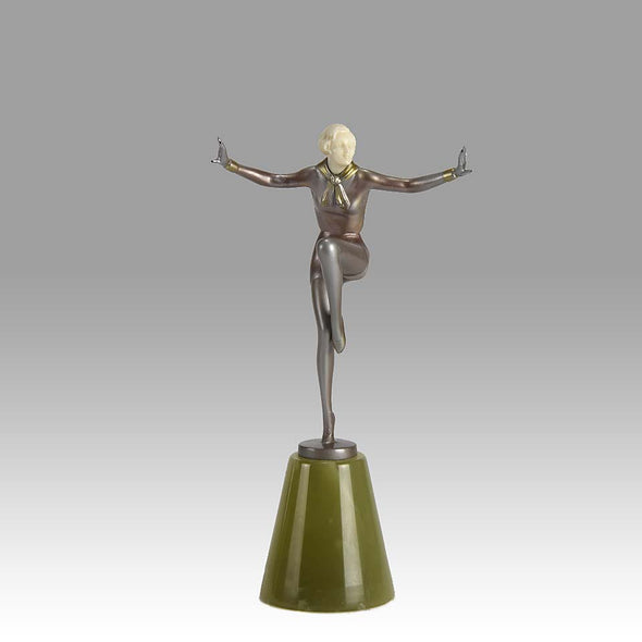 Lorenzl Armsa Out Art Deco Bronze
