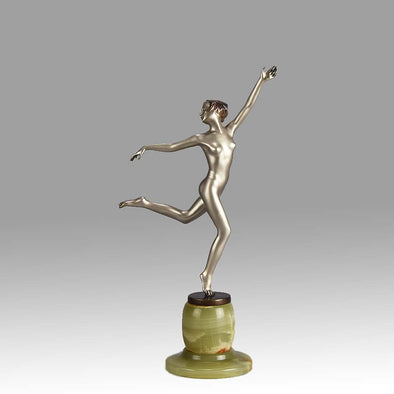 Art Deco Bronze By Josef Lorenzl Running Girl