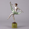 Lorenzl Scarf Dancer Art Deco Bronze