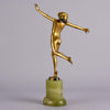 Lorenzl Art Deco bronze Running Girl Figure