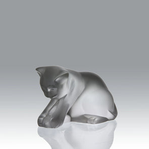 """Kitten at Play"" by Lalique Glass"