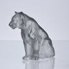 Lalique Tiger - Lalique Glass Tigre Assis - Hickmet Fine Arts