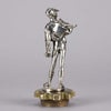 Lalouette Jockey Silvered Bronze Car Mascot