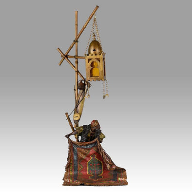 Franz Xavier Bergman Bronze Lamp - Carpet Seller Lamp - Hickmet Fine Arts
