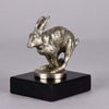 Lejuene Car Mascot - Running Hare by Louis Lejeune - Hickmet Fine Arts