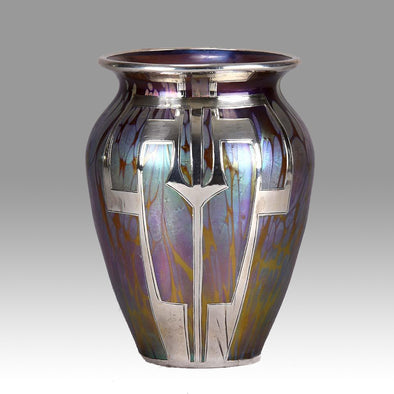 """Secessionist Silvered Vase"" by Johann Loetz"