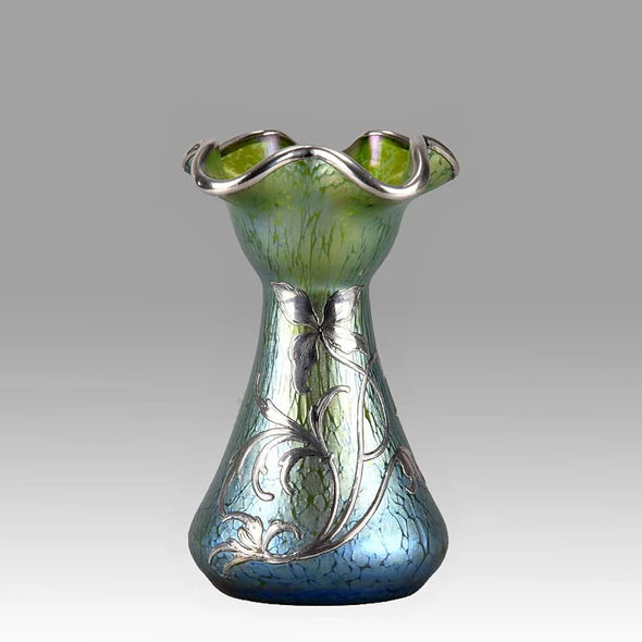 Silvered Papillon Vase by Johann Loetz