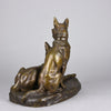 Louis Riche Bronze - Two Alsatians - Hickmet Fine Arts