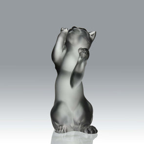 Lalique Chat Jouant -Marc Lalique Cat - Hickmet Fine Arts