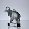 Marc Lalique Elephant Glass Paperweight