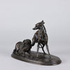 Animalier Mene Bronze - Greyhound and King Charles - Hickmet Fine Arts
