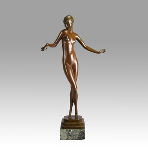 Delicate Paul Philippe - Art Deco Bronze Sculptures - Hickmet Fine Arts