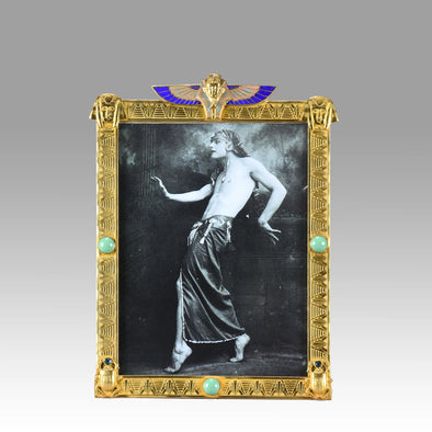 """Gilt Bronze Egyptienne Photo Frame"""