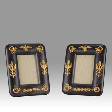 French Empire Bronze Photo Frames