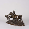 Pierre Jules Mene L'Accolade - Animal Bronze - Hickmet Fine Arts