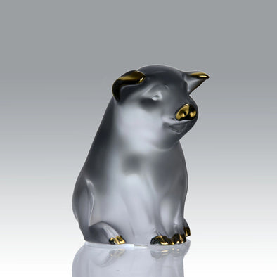 """Seated Pig"" By Lalique"