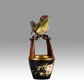 """Bird on Pot"" by Franz Bergman"