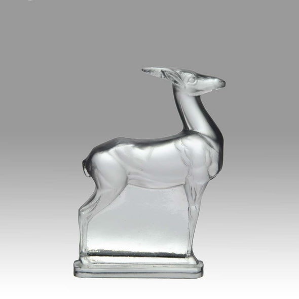 "René Lalique ""Antelope"" Paperweight"
