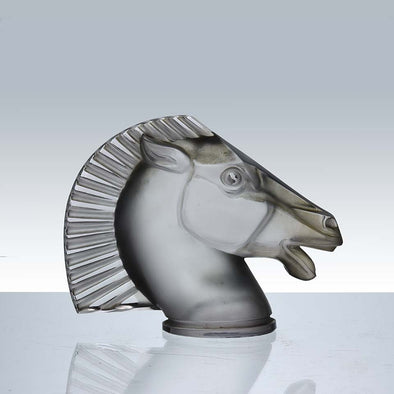Longchamp Art Deco Glass Car Mascot by Rene Lalique