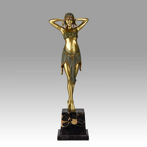 """Scarab Dancer"" bronze by D H Chiparus"