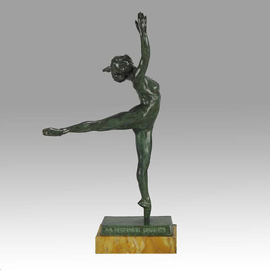 Art Deco Yourievitch Bronze Dancer of Nattova