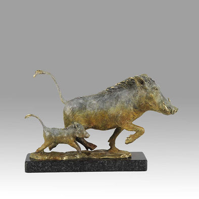 Limited Edition Bronze Steve Winterburn Warthogs