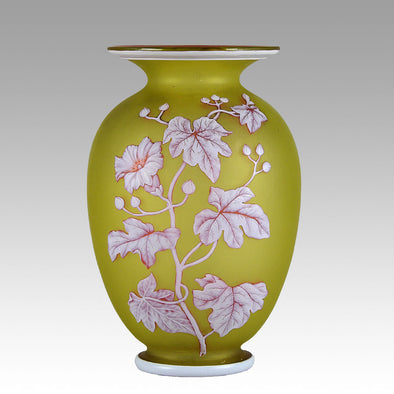 Thomas Webb Butterfly Vase