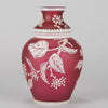 Thomas Webb Red Flower Vase