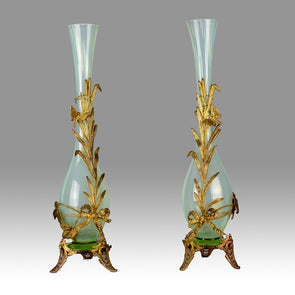 'Opaline Glass and Gilt Bronze Vases'