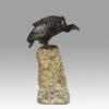 """Seated Vulture"" by Alfred Barye"