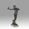 Sling Boy  - Art Nouveau Reid-Dick Bronze - Hickmet Fine Arts