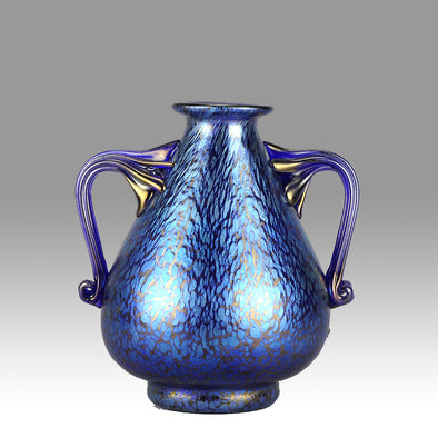 Twin Handled Vase by Johann Loetz