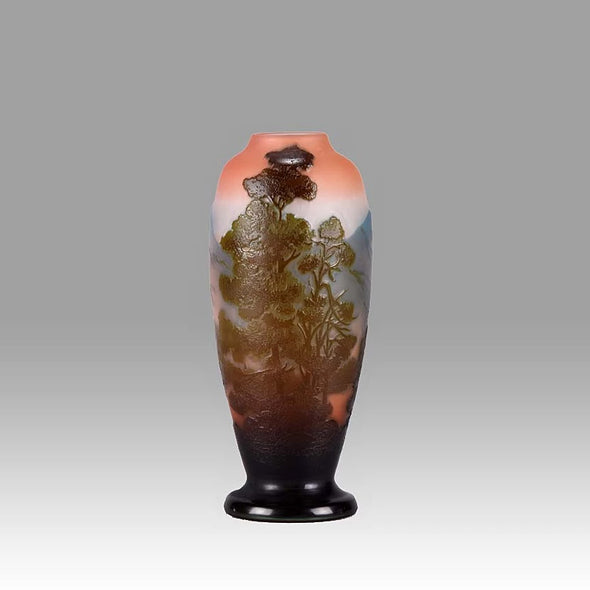 """Mountain Landscape"" Vase by Emile Gallé"