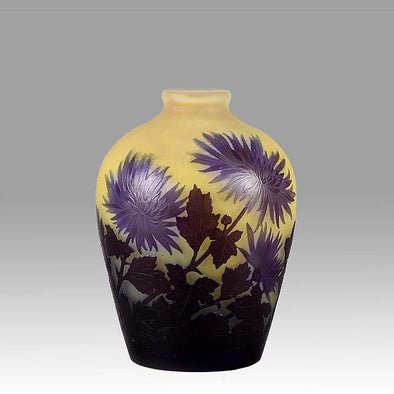 'Chrysanthemum' Vase by Emile Gallé