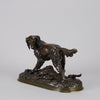 Setter and Rabbit bronze by Moigniez