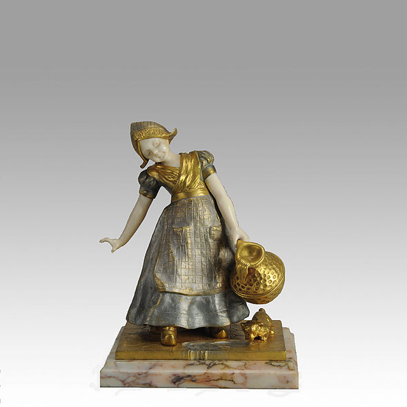Charlotte Monginot Figure Art Deco Bronze
