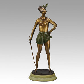 Bruno Zach Fencer Art Deco Bronze