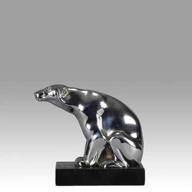 Art Deco Bear Car Mascot