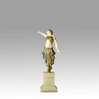 Art Deco Bronze & Ivory Figure by Louis Sosson