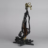 Erté Bronze Sculpture Bal Tabarin - Cold Painted Bronze - Hickmet Fine Arts