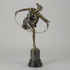 Bruno Zach Bronze Hoop Dancer Art Deco