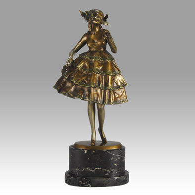 Zach Party Girl Art Deco Bronze